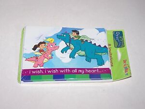 Dragon Tales  Party Invitations NIP Invites 8 cards I WISH WITH ALL MY HEART