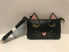 Phone Charging Crossbody Black Cat Bag Purse Kohls Pink Gold