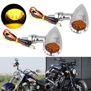 Motorcycle LED Turn Signal Blinker Light For Yamaha V Star 250 650 950 1100 1300