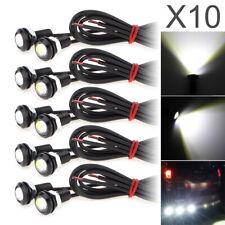 12V Auto Car 6000K LED Eagle Eye Fog Light DRL Reverse Backup Lamp 9W 18MM 10x