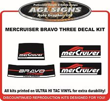 Mercury Bravo Three Replacement Outdrive Decal Kit   Mercruiser TWIN PROP
