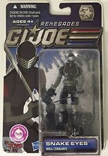 "SNAKE EYES COMMANDO GI JOE 'Renegades' Cartoon 2011 3.75"" Inch Action FIGURE"