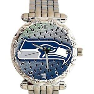 Seattle Seahawks NFL Luxury Stainless Steel Watch - (RARE) NEW