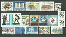 FINLAND stamps from the 1990's - 18 different MNH