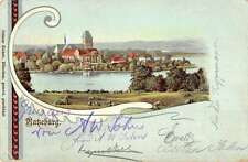 Ratzeburg Germany View Of Historic Bldgs Lake Scenic Antique Postcard K16839