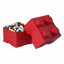 LEGO STORAGE BRICK 4 RED 100% OFFICIAL KIDS TOY STORAGE FURNITURE