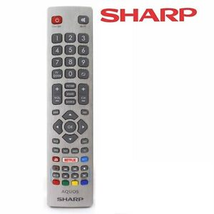 Genuine Sharp Aquos Remote Control For Smart TV with Netflix YouTube &3D Buttons
