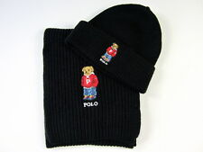 Polo Ralph Lauren Polo Bear Hat & Polo Bear Scarf Polo Black NWT