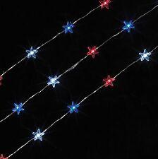 Red White Blue Patriotic Star LED Light GE 2050920 Miniature Garden Dollhouse