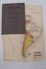 SUD AMERICA - Del Franco: LA AMERICA ESPANOLA 1926 Buenos Aires 1a 1st Storia