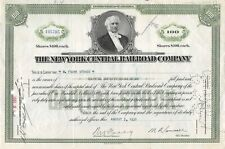 New listing The New York Central Railroad Company 100 Share Capital Stock Certificate