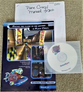 Vintage 1998 Sega Soft PLANE CRAZY PC Game Pre Release Disc with Documentation