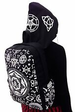Black Pentagram Gothic Punk BackPack With Removable Hood By Bannad Apparel