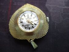 vintage ladies superoma delux, mechanical pendant watch  runs ,