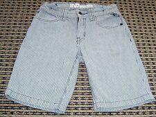 IND BY INDUSTRIE BOYS STRIPED DENIM SHORTS SZ 7