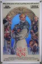 THE NAME OF THE ROSE ROLLED ORIG 1SH MOVIE POSTER SEAN CONNERY STRUZAN ART(1986)