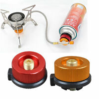 Camping Stove Convert Adapter Nozzle Bottle Type Butane Auto-Off Gas Cartridge