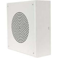 """Quam System 1Vp 8"""" Vandal-Proof Wall Mount Square Speaker 5W-25/70V White"""