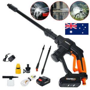 20V Electric Washer Spray Gun Cordless High Pressure Water Cleaner Sprayer 2.0AH