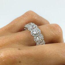 3.98 tcw 18K White Gold Oval Cut Diamond Eternity Ring