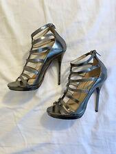 JIMMY CHOO Metalic Silver Heels. Size Eur 37 / UK 4.