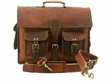 "Leather 11""13""14""15""15.6"" Laptop Handle Bag Shoulder Pouch Case For Macbook Dell"