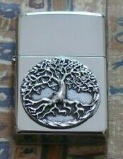 More details for plain tree of life emblem zippo lighter free p&p free flints