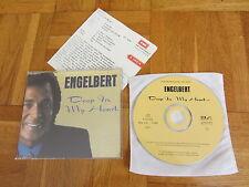 ENGELBERT Deep In My Heart 1997 GERMANY Promo CD single + german infosheet