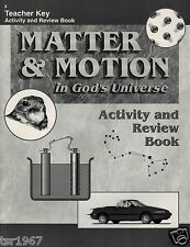 A Beka Science Matter & Motion Teacher Key Activity and Review Book - 8th Grade
