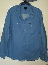 Mens Official Lee Durabilt Soft Denim Shirt/Jacket Size Small VGC