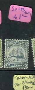 TURKS & CAICOS (P2607B)  BOAT   2 1/2D  SG 103   MOG
