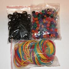 100 Tattoo Rainbow Sorted Colors 2 Sided Grommets 100 Rubber Bands 100 ORings