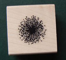 "P5  Small Dandelion flower rubber stamp 0.7"" WM"