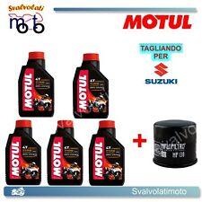 TAGLIANDO FILTRO OLIO + 5LT MOTUL 7100 10W40 SUZUKI VS INTRUDER 1400 2002