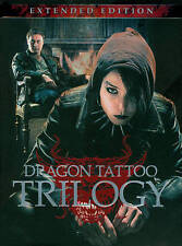 The Dragon Tattoo Trilogy (DVD, 2011, 4-Disc Set, Extended Edition) Girl With...