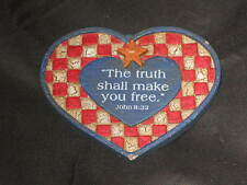 Decorative Refrigerator Magnet Heart Star Religious Bible Blue Red NEW!