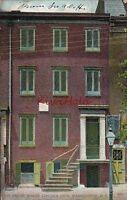 Postcard House Where Abe Lincoln Died Washington DC