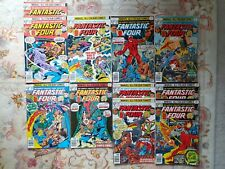 Fantastic four collectable marvel comics lot 182 to 189