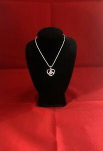 Silver 925 crystal Clear heart pendant with necklace chain 45cm length uk based