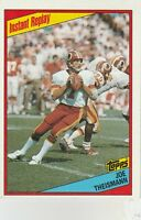 FREE SHIPPING-MINT-1984 Topps #391 Joe Theismann REDSKINS INSTANT REPLAY