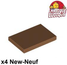 NEUF NEW Plate Tile 1x4 marron 4 x LEGO 2431 Plaque Lisse medium dark flesh
