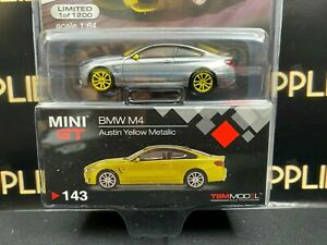 CHASE ! 2021 TSM Model Mini-GT BMW M4 AUSTIN YELLOW METALLIC LHD 1:64