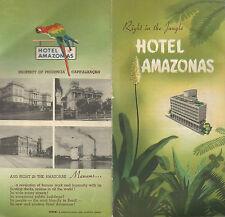 Hotel Amazonas Manaus Brazil  Vintage Travel Brochure Black & White Photos