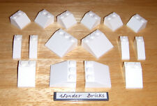 Lego White Slope 3 x 3 House Roof Winter Snow 10129