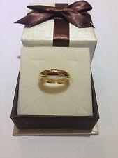 anello uomo donna fede fedina ORO GIALLO  18 KT - 750% misura 12