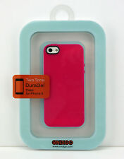 Ondigo iPhone 5 Two Tone DuraGel Case Pink/White