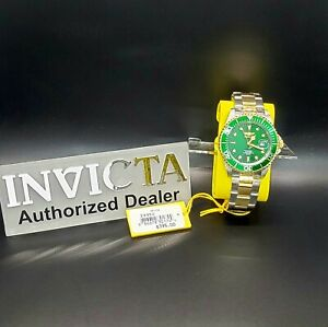New Invicta Men's 24950 Pro-Diver 40MM Case Two-Tone Green Dial 200M W/R Watch