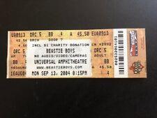 Beastie Boys concert ticket stub - Second Row - Los Angeles September 13, 2004