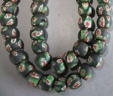 (i7085) Old Glass Hand Made Beads Nepal 8 pc (bead 1,2 cm)