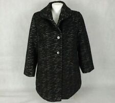 BeMe Plus Size 16 Coat Black Grey Zebra Print Thick Lined Warm